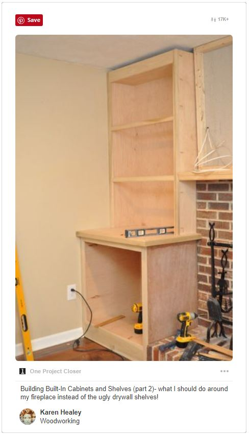 Built-in cabinets - Around fireplace
