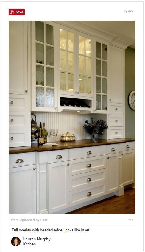 Built in cabinets - Full overlay with beaded edge, looks like inset