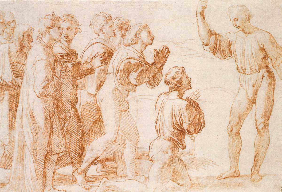 types of architecture - Compositional Study for Handing-over the Keys of Jesus to Peter for Tonal Easy Sketches