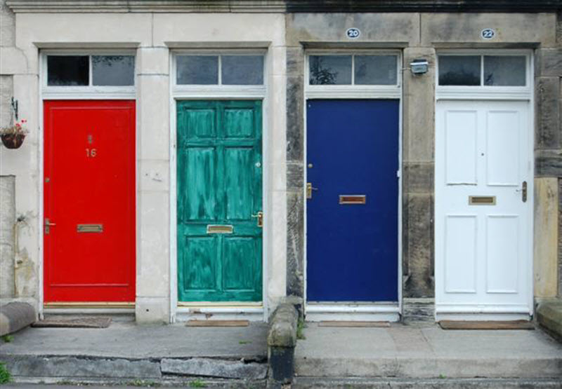 different colors of front doors