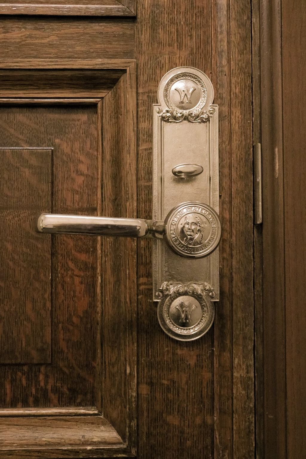 door handle with old architectural design