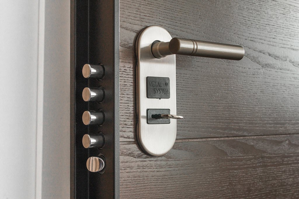 modern front door locks