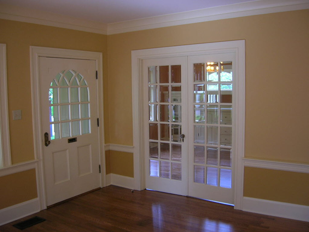 white color french door design