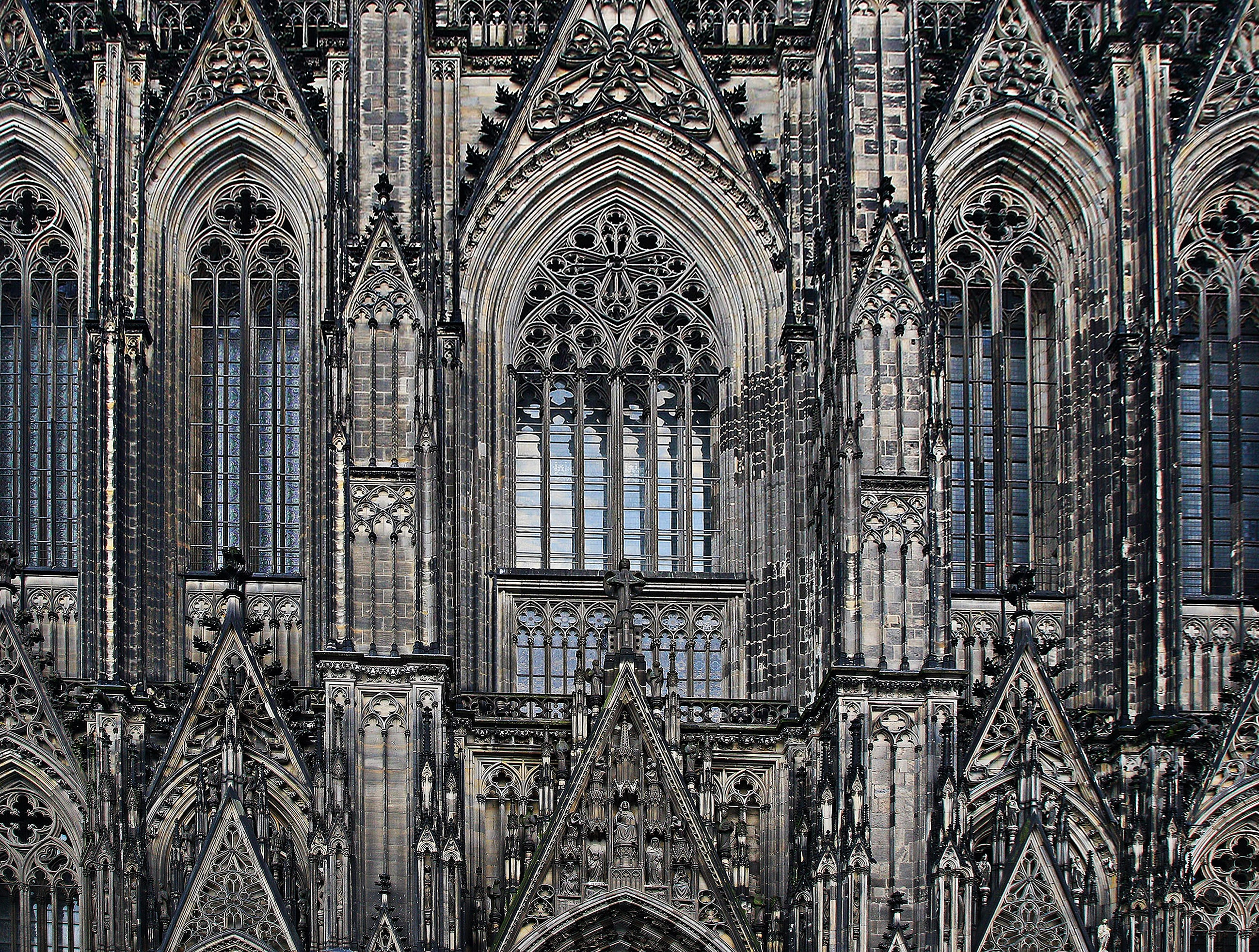 Closeup photo of Cologne Cathedral