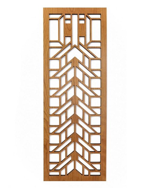 Lightwave Laser Frank Lloyd Wright Martin House Wood Art Screen Wall Element Cherry